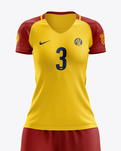 Women's Full Soccer Kit mockup (Front View)