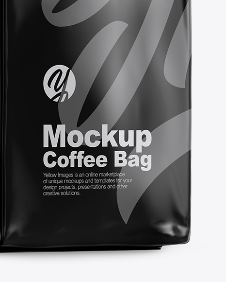 Glossy Coffee Bag Mockup