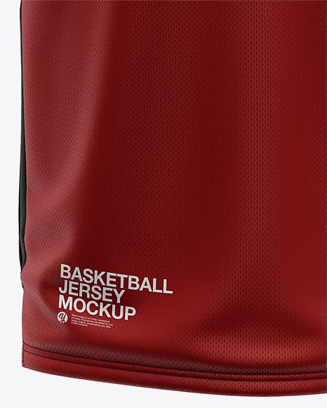 Men's V-Neck Basketball Jersey Mockup - Front View