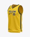 Men's V-Neck Basketball Jersey Mockup - Front Half Side View
