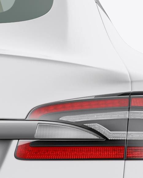 Tesla Model S Mockup - Back View
