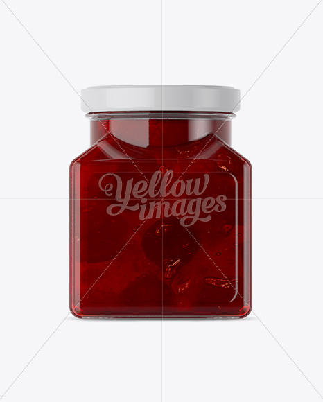 Download Glass Cherry Jam Jar Mockup In Jar Mockups On Yellow Images Object Mockups Yellowimages Mockups