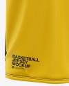 Men's U-Neck Basketball Jersey Mockup - Front View
