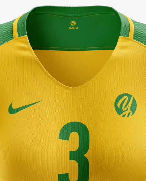 Women's Soccer Jersey mockup (Front View)