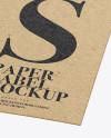 Kraft Label Mockup