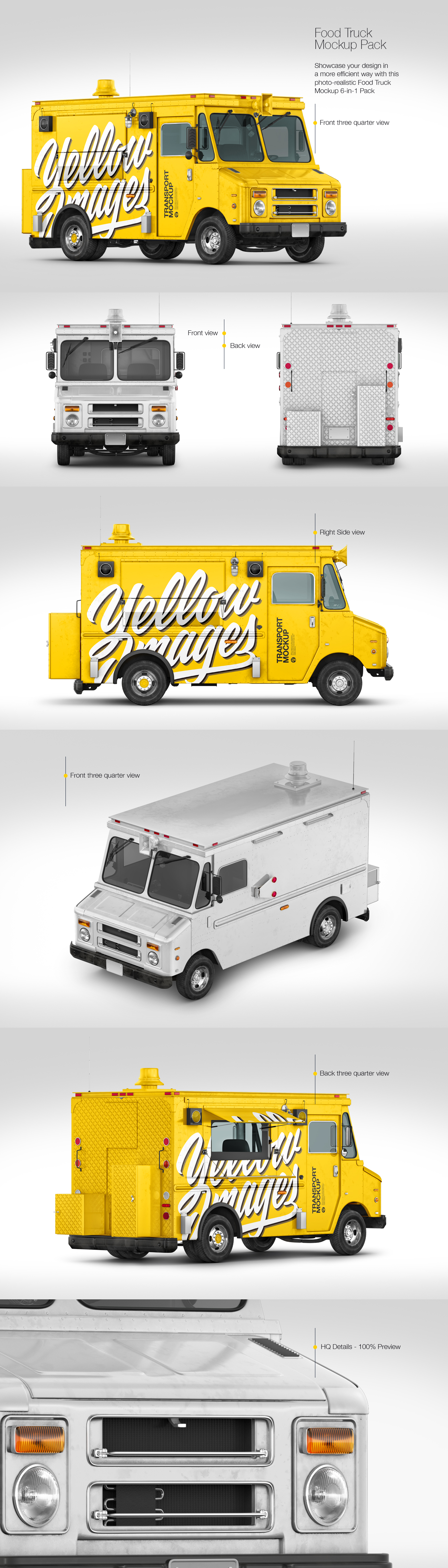 Download Foodtruck Mockup Pack In Handpicked Sets Of Vehicles On Yellow Images Creative Store Yellowimages Mockups