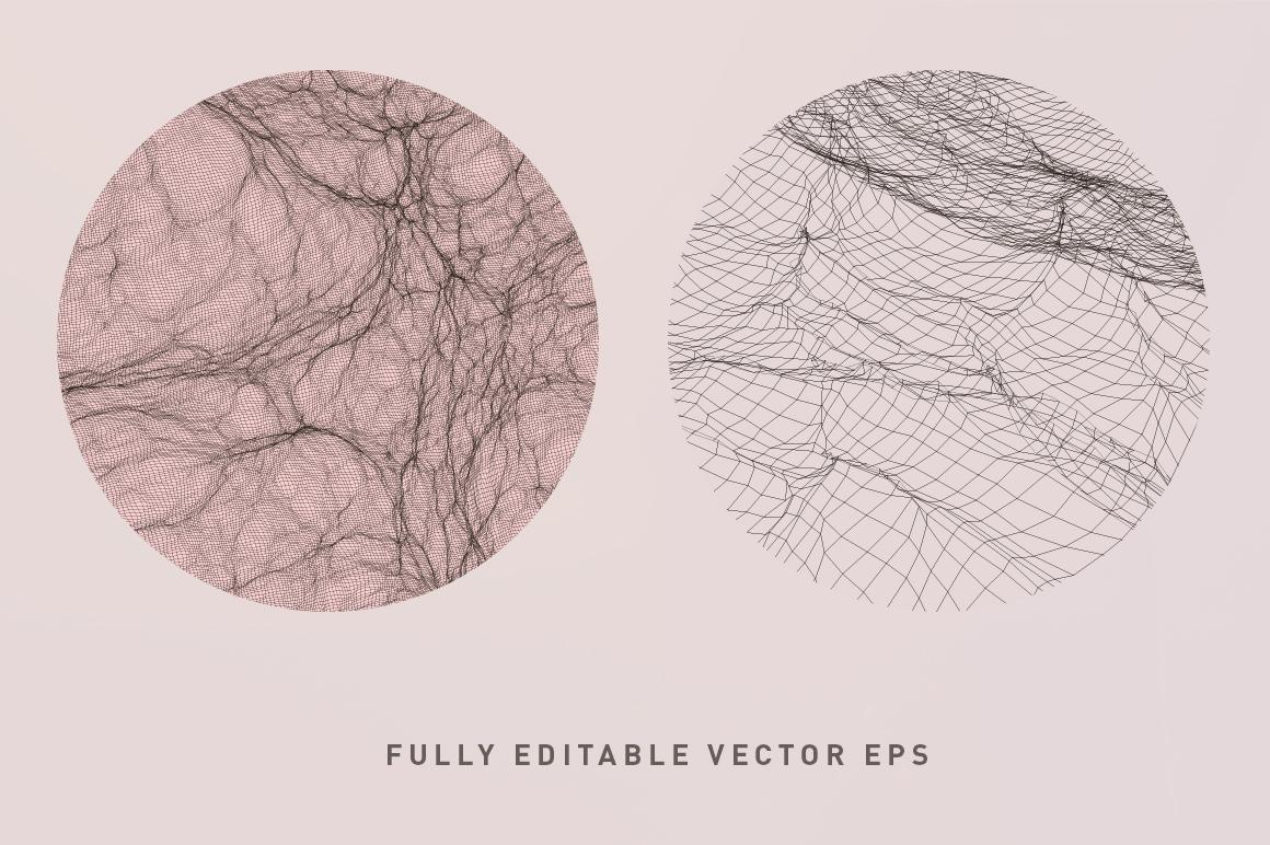 Digital Waves Vectors