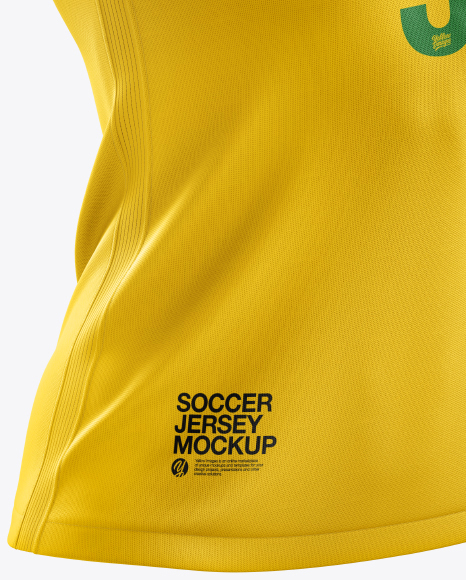Women's Soccer Jersey mockup (Half Side View)