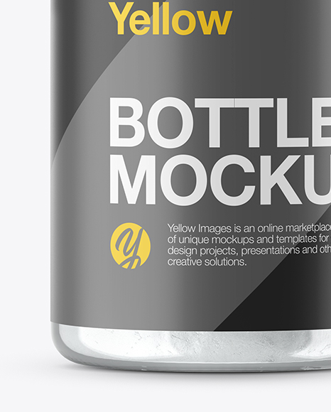 Clear Glass Bottle with Powder Mockup