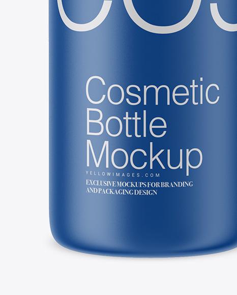 Matte Cosmetic Bottle Mockup