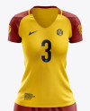 Women's Soccer Kit mockup (Front View)