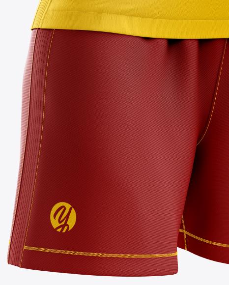 Women's Soccer Kit mockup (Half Side View)