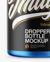 Matte Metallic Dropper Bottle Mockup