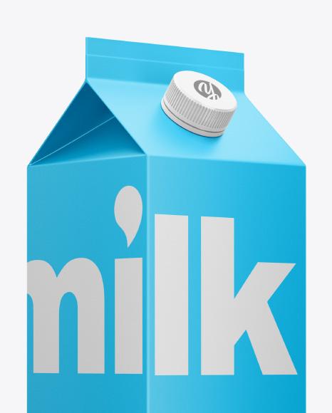 Milk Carton with Screw Cap Mockup