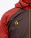 Men's Lightweight Hooded Windbreaker Jacket - Front View