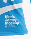 Men's Jersey with Mini Eyelet Fabric Mockup