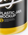 Matte Plastic Jar Mockup - High-Angle Shot