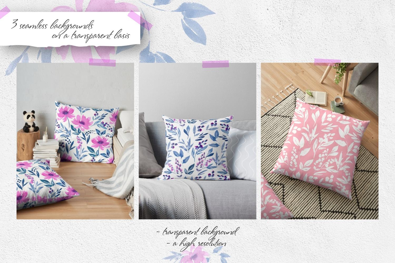 Purple Dreams-Flower Watercolor Set