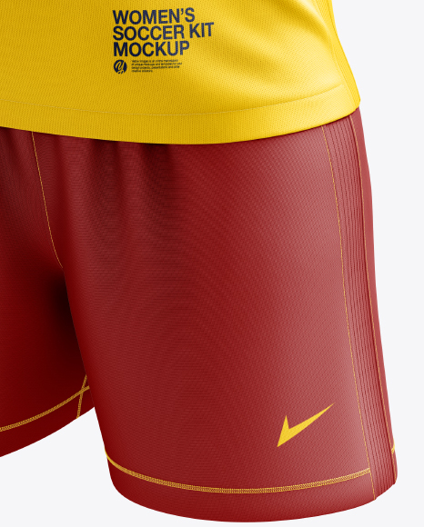 Women's Soccer Kit mockup (Half Side View)