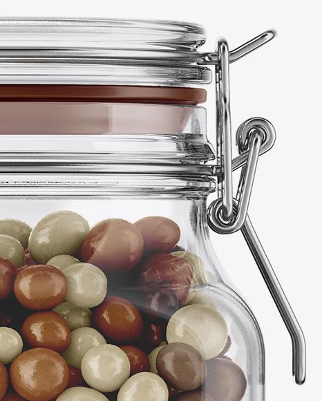 Candies Glass Jar Mockup
