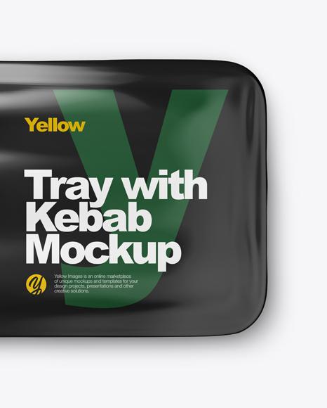 Plastic Tray With Kebab Mockup