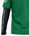 Men's Double-Layer Long Sleeve Knit T-Shirt Mockup - Back View