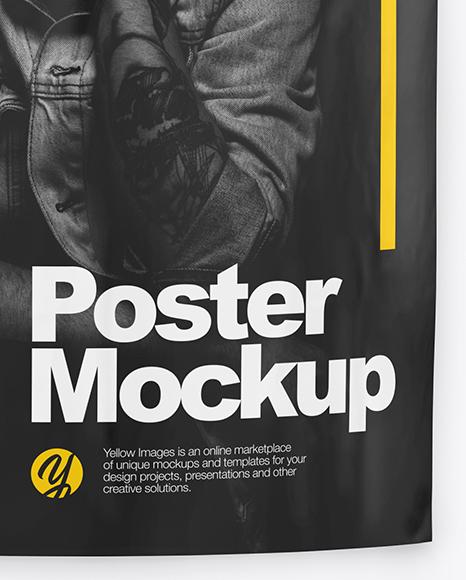 Bended A1 Poster Mockup