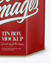 Matte Tin Box Mockup
