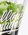 Plastic Bag With Salad in Pot Mockup