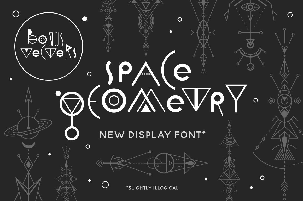 Space Geometry Font + Vector Bonuses