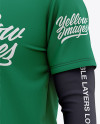 Men's Double-Layer Long Sleeve T-Shirt Mockup - Front Half Side View