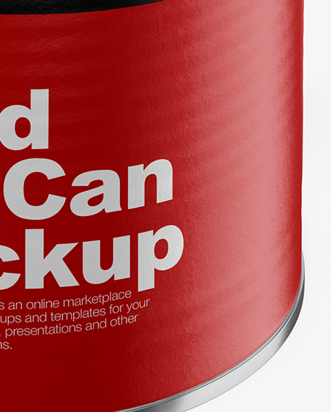 Food Can w/ Red Beans Mockup