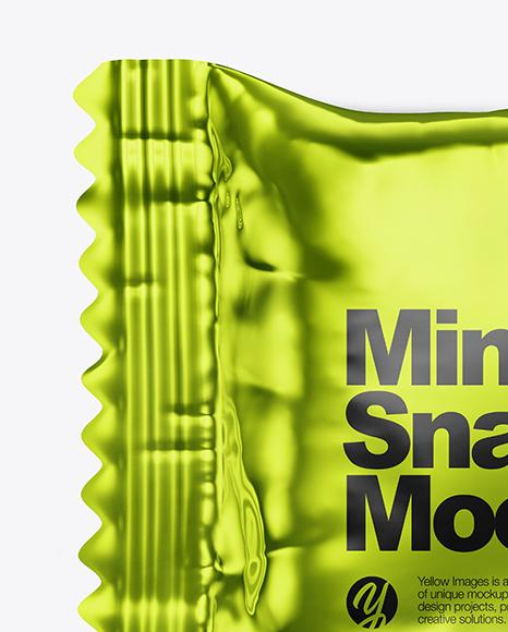Metallized Mini Snack Bar Mockup