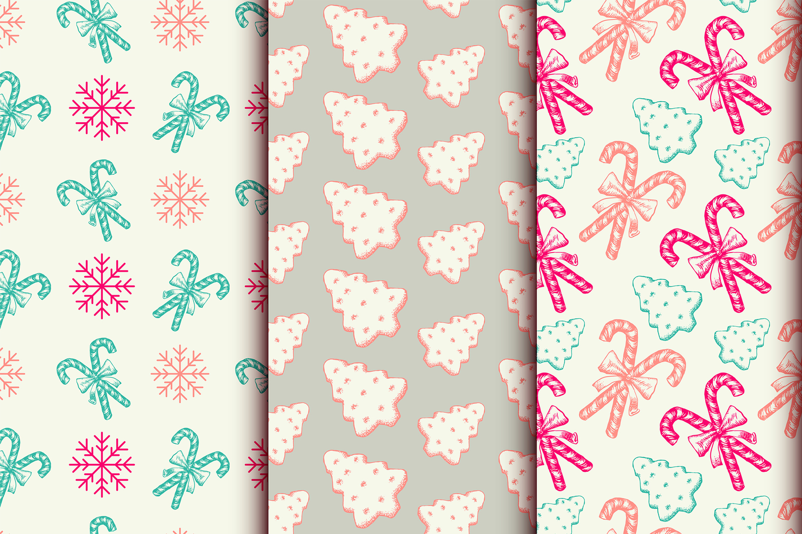 Xmas Patterns Collection and Elements