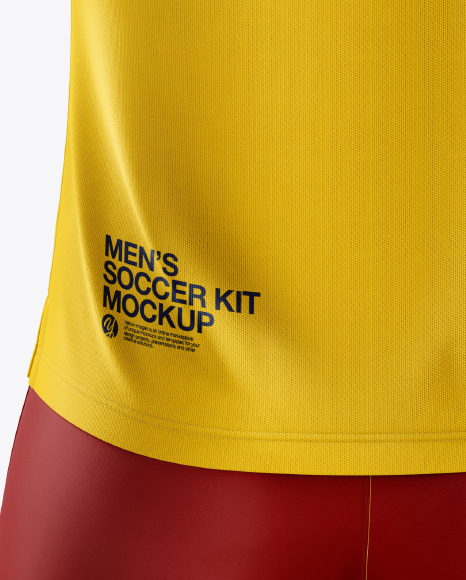 Men's Soccer V-Neck Kit mockup (Back View)