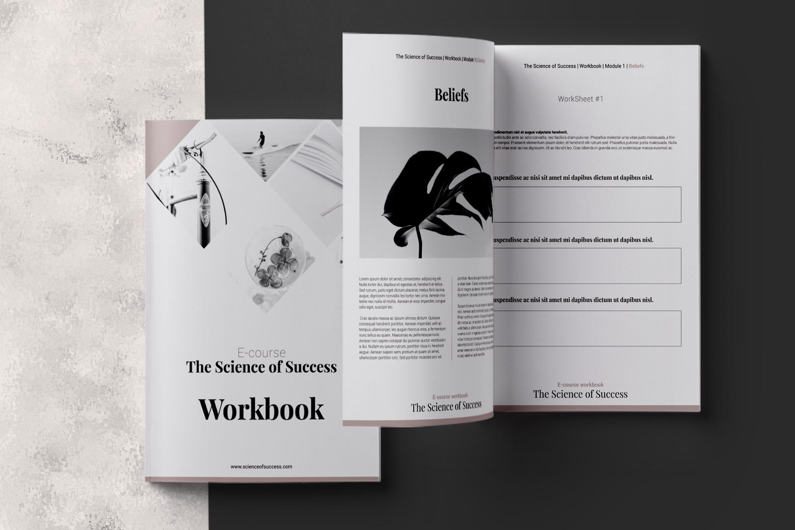 E-course Workbook InDesign Template in Brochure