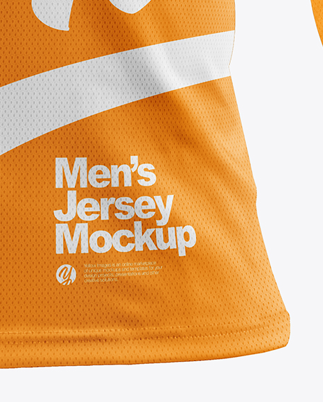 Men's Jersey with Eyelet Mesh Fabric Mockup
