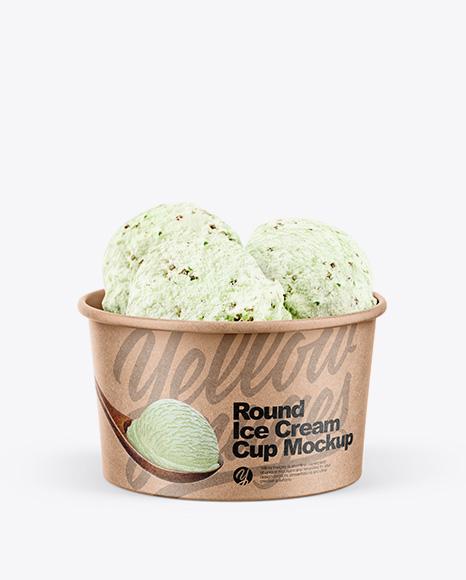 Kraft Pistachio Ice Cream Cup Mockup