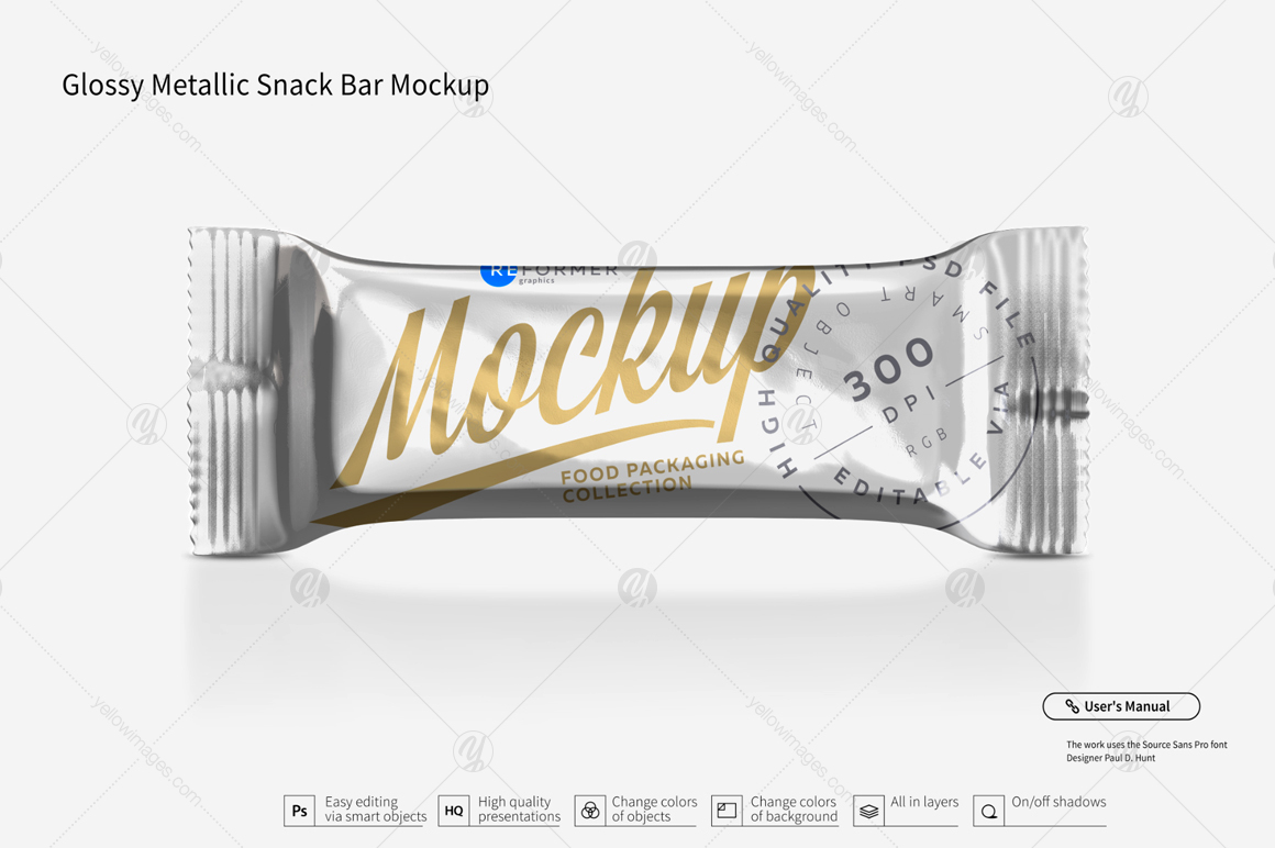 Snack Bar Mockup Bundle 50g