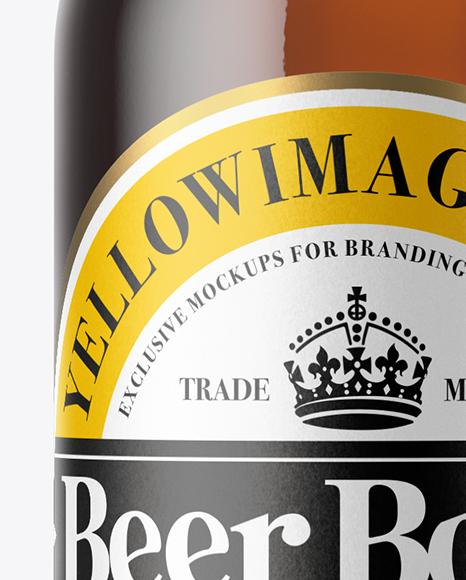 Download Amber Beer Bottle With Cork Mockup PSD - Free PSD Mockup Templates