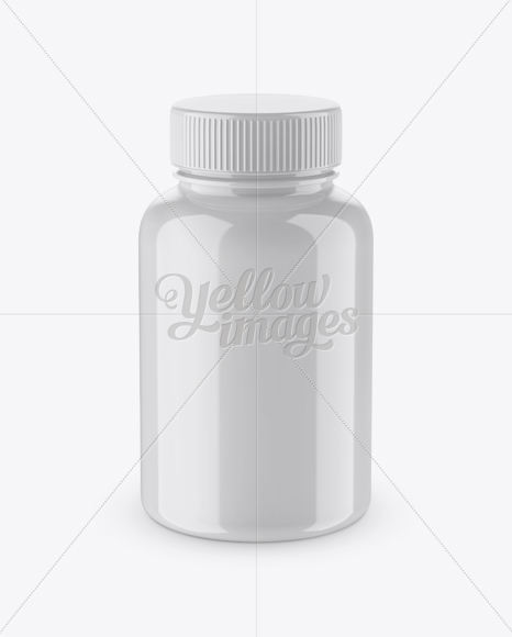 Download Glossy Pill Bottle Mockup High Angle Shot In Bottle Mockups On Yellow Images Object Mockups PSD Mockup Templates