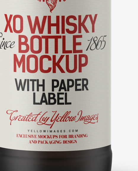 Download Black Matte Whisky Bottle With Wax Top Mockup In Bottle Mockups On Yellow Images Object Mockups PSD Mockup Templates