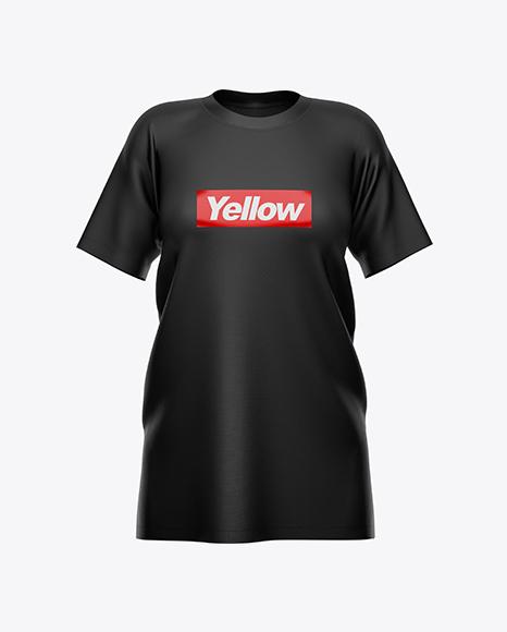 Women's Baggy T-Shirt Mockup