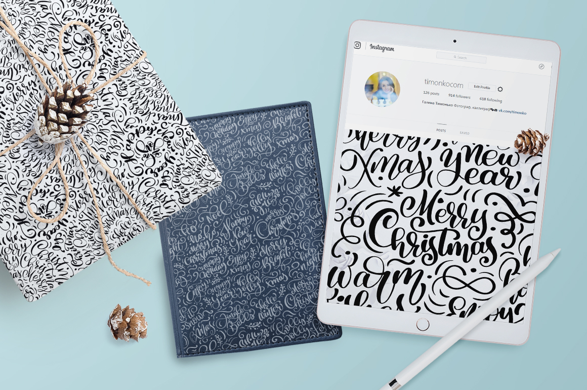 Christmas lettering patterns