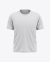 Men's Short Sleeve T-Shirt Mockup - Front View
