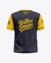 Men's Short Sleeve T-Shirt Mockup - Back View