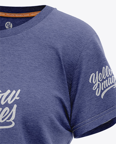 Women's Heather Relaxed Fit T-shirt Mockup - Half Front View