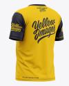 Men's Short Sleeve T-Shirt Mockup - Back Half Side View