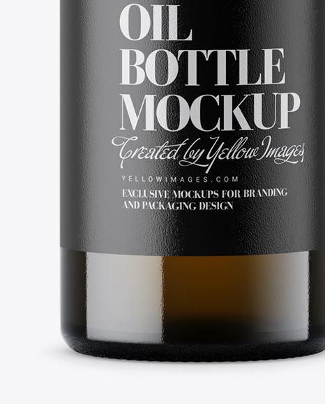Amber Glass Olive Oil Bottle Mockup