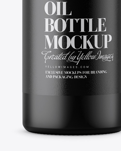 Matte Olive Oil Bottle Mockup